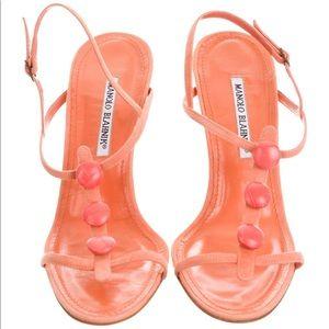 Manolo Blahnik Suede embellished sandals